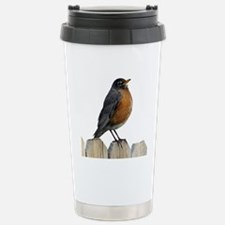 American Robin Stainless Steel Travel Mug
