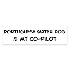 Co-pilot: Portuguese Water Do Bumper Bumper Sticker