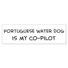 Co-pilot: Portuguese Water Do Bumper Car Sticker