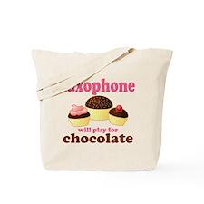 Chocolate Saxophone Tote Bag