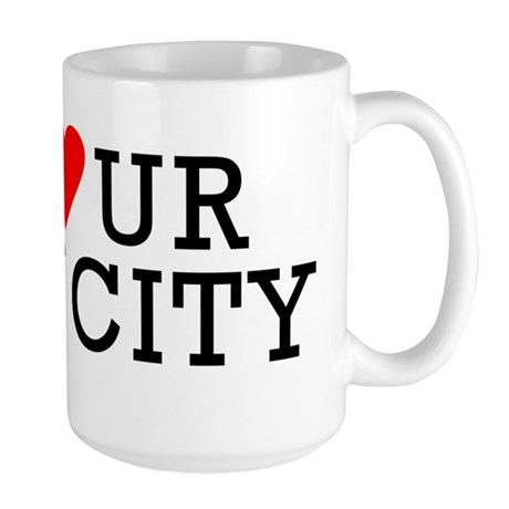 Go Heart Your Own City Large Mug