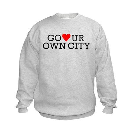 Go Heart Your Own City Kids Sweatshirt