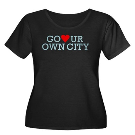 Go Heart Your Own City Women's Plus Size Scoop Nec