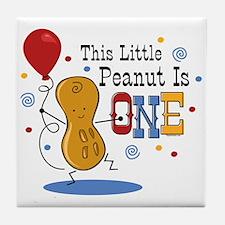 Little Peanut 1st Birthday Tile Coaster