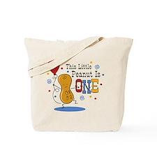 Little Peanut 1st Birthday Tote Bag