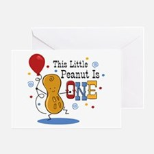 Little Peanut 1st Birthday Greeting Card