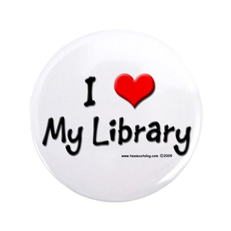 "I luv my Library 3.5"" Button"