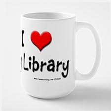 I luv my Library Large Mug