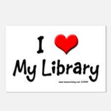 I luv my Library Postcards (Package of 8)