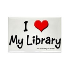 I luv my Library Rectangle Magnet