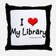 I luv my Library Throw Pillow