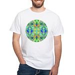 Butterfly Mandala White T-Shirt