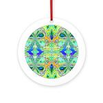 Butterfly Mandala Ornament (Round)