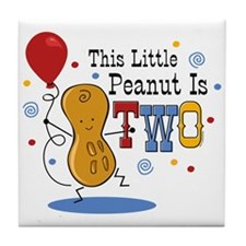 Little Peanut 2nd Birthday Tile Coaster
