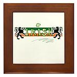 Irish Scribble Flag Framed Tile