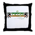 Irish Scribble Flag Throw Pillow