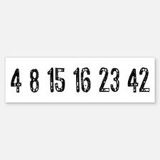 Lost Numbers Sticker (Bumper)