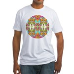 Butterfly Mandala Fitted T-Shirt