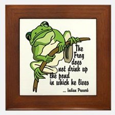 Frog Framed Tile