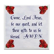 Come Lord Jesus 2 Tile Coaster