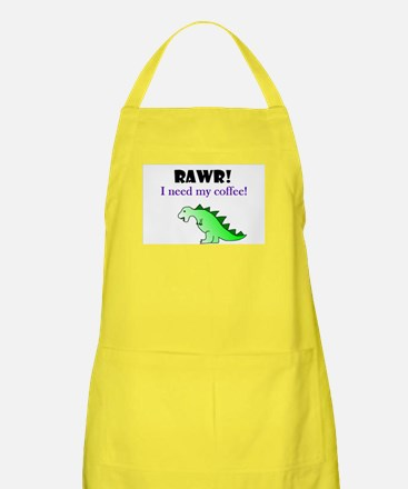 RAWR! I need my coffee! Apron