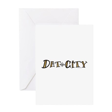 Dat City Greeting Card