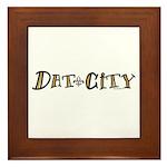 Dat City Framed Tile
