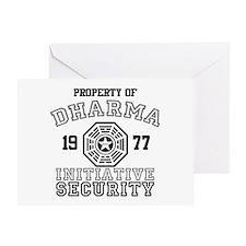 Dharma Initiative - Security Greeting Card