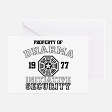 Dharma Initiative - Security Greeting Card