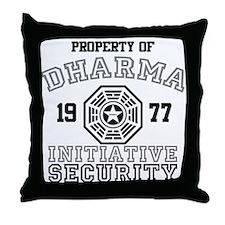 Dharma Initiative - Security Throw Pillow