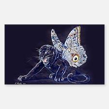 Black Butterfly Panther Sticker (Rectangular)