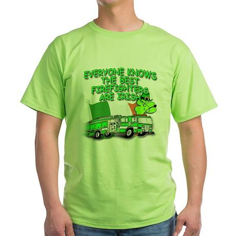 Irish Firefighter Green T-Shirt