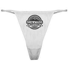 Snowmass Grey Classic Thong