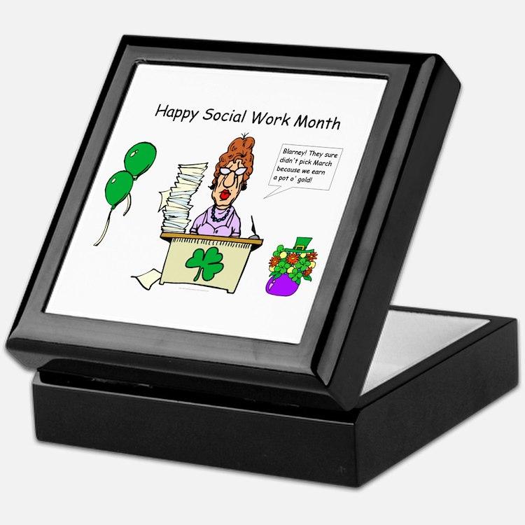 Social Work Month Desk2 Keepsake Box