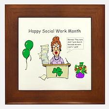 Social Work Month Desk2 Framed Tile