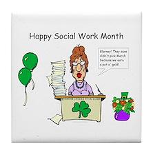 Social Work Month Desk2 Tile Coaster