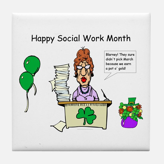 Social Work Month Desk2 Tile Coaster