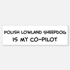 Polish Lowland Shee Bumper Bumper Bumper Sticker