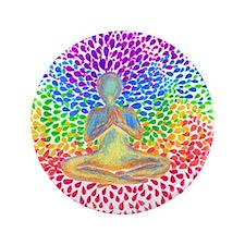 "Cute Meditation 3.5"" Button (100 pack)"