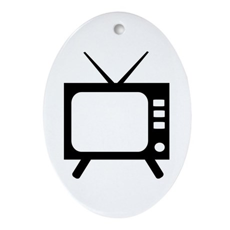 TV Ornament (Oval)