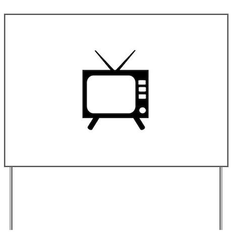 TV Yard Sign