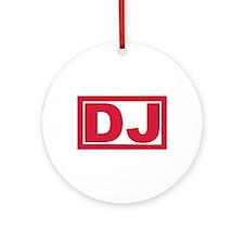 DJ Ornament (Round)