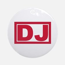 DJ Ornament (Round)
