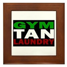 GYM TAN LAUNDRY Framed Tile