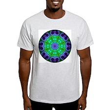 Crystalline Mandala Ash Grey T-Shirt