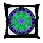Crystalline Mandala Throw Pillow