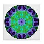 Crystalline Mandala Tile Coaster