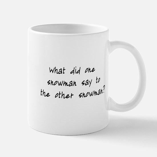 Lost Snowman Joke Mug