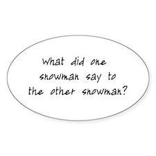 Lost Snowman Joke Decal