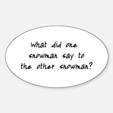 Lost Snowman Joke Decal